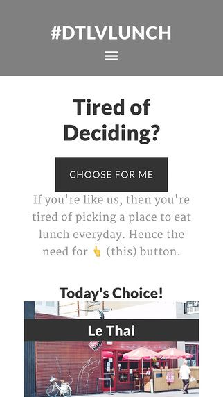 Choose for Me Screenshot DTLV Lunch