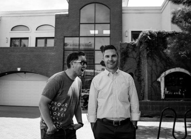 Kurt Wankier and his business partner Kenny, new owners of Work in Progress coworking spaces
