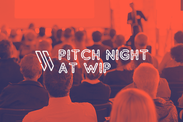 Pitch to investors at Pitch Night at Work in Progress in Downtown Las Vegas